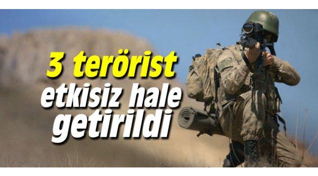 3 terörist etkisiz hale getirildi