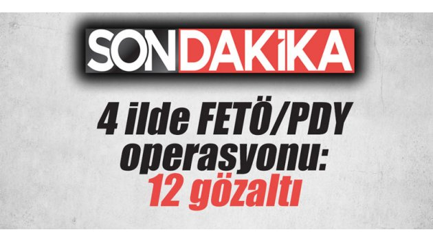 4 ilde FETÖ/PDY operasyonu: 12 gözaltı