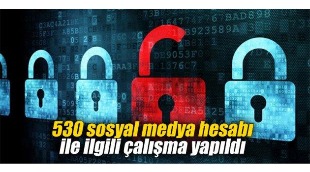 530 sosyal medya hesabı ile ilgili çalışma yapıldı