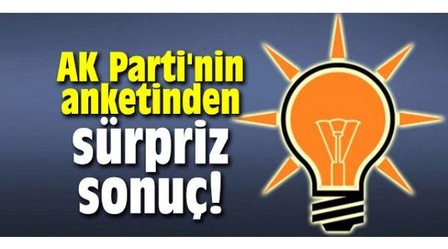 AK Parti'nin anketinden sürpriz sonuç!