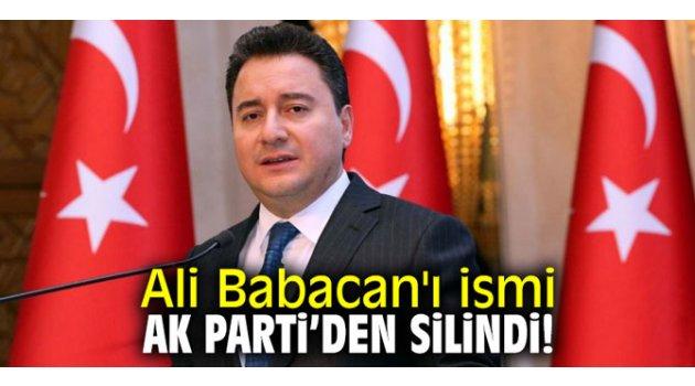 Ali Babacan'ı ismi AK Parti'den silindi!