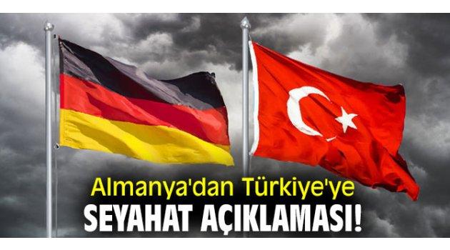 Almanya'dan flaş Türkiye'ye seyahat açıklaması