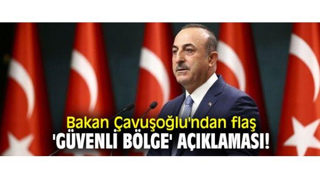 Bakan Çavuşoğlu'ndan flaş 'Güvenli Bölge' açıklaması!