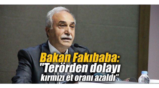 """Bakan Fakıbaba: """"Terörden dolayı kırmızı et oranı azaldı"""""""