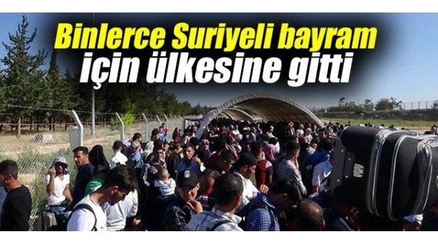 Binlerce Suriyeli bayram için ülkesine gitti