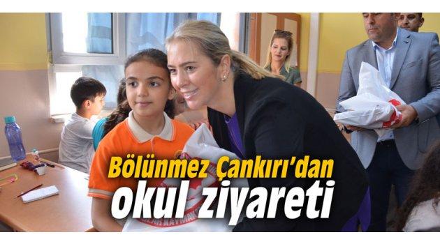 Bölünmez Çankırı'dan okul ziyareti