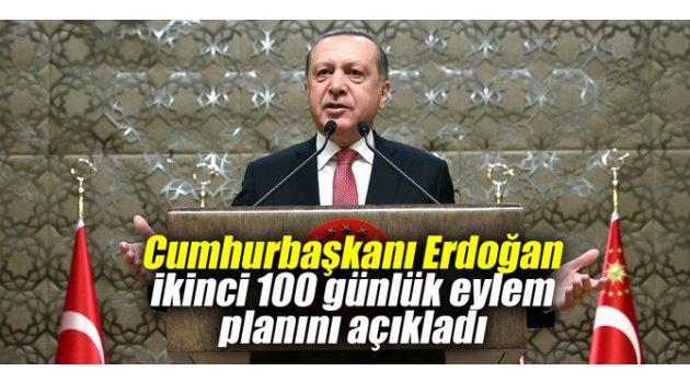 Cumhurbaşkanı Erdoğan ikinci 100 günlük eylem planını açıkladı
