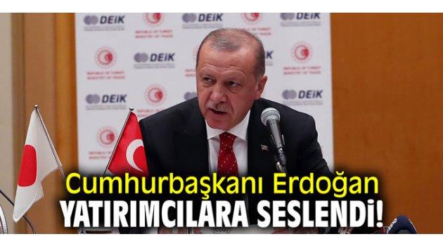 Cumhurbaşkanı Erdoğan yatırımcılara seslendi