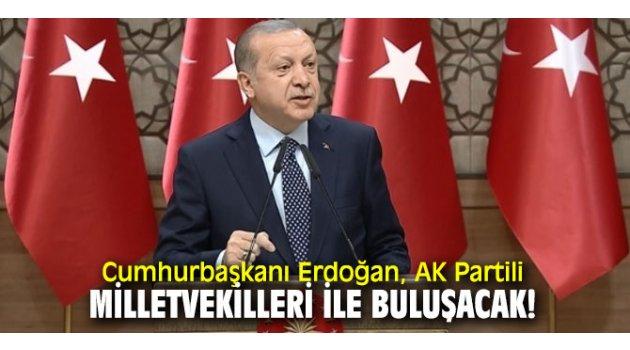 Cumhurbaşkanı Recep Tayyip Erdoğan, milletvekilleri ile buluşmak için AK Parti İstanbul İl Başkanlığına geldi.