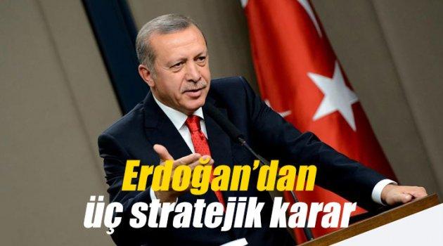 Erdoğan'dan üç stratejik karar
