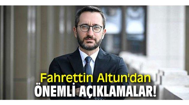 Fahrettin Altun'dan önemli açıklamalar!