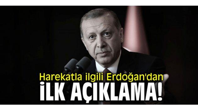 Harekatla ilgili Erdoğan'dan ilk açıklama!