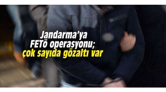 Jandarma'ya FETÖ operasyonu; çok sayıda gözaltı var