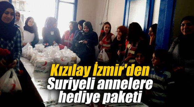 Kızılay İzmir'den Suriyeli annelere hediye paketi