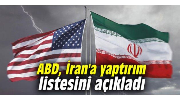 ABD, İran'a yaptırım listesini açıkladı