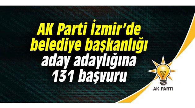 AK Parti İzmir'de belediye başkanlığı aday adaylığına 131 başvuru