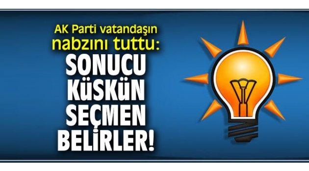 AK Parti vatandaşın nabzını tuttu: Sonucu küskün seçmen belirler...