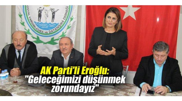 """AK Parti'li Eroğlu: """"Geleceğimizi düşünmek zorundayız"""""""