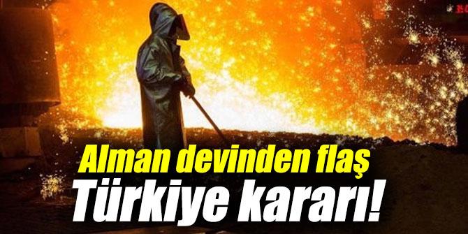 Alman devinden flaş Türkiye kararı!