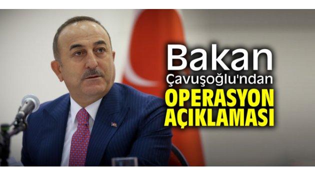 Bakan Çavuşoğlu'ndan operasyon açıklaması