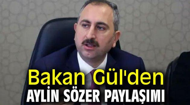 Bakan Gül'den Aylin Sözer paylaşımı