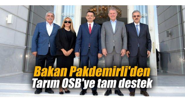 Bakan Pakdemirli'den Tarım OSB'ye tam destek