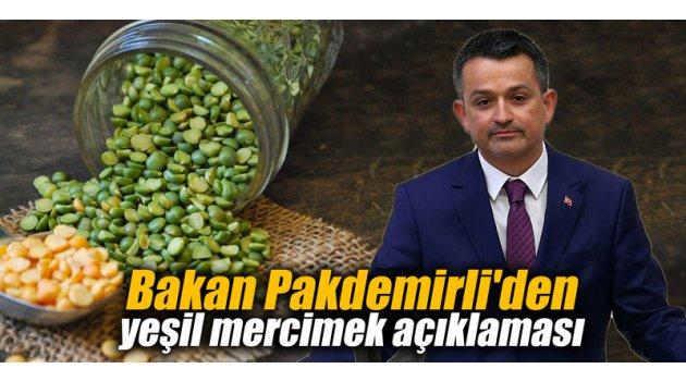 Bakan Pakdemirli'den yeşil mercimek açıklaması