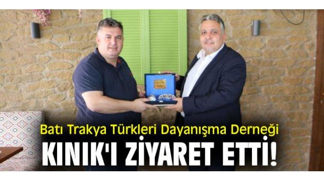 Batı Trakya Türkleri Dayanışma Derneği, Kınık'ı ziyaret etti!
