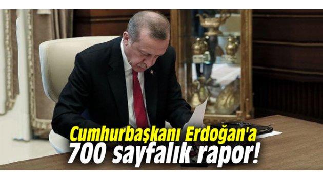 Cumhurbaşkanı Erdoğan'a 700 sayfalık rapor!