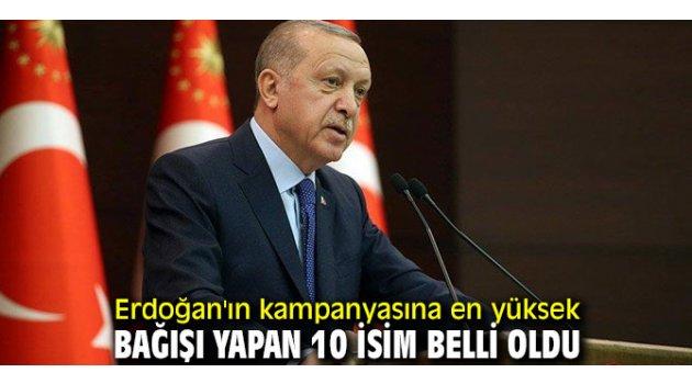Erdoğan'ın kampanyasına en yüksek bağışı yapan 10 isim!