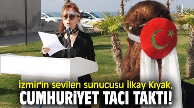 İzmir'in sevilen sunucusu İlkay Kıyak, Cumhuriyet tacı taktı!