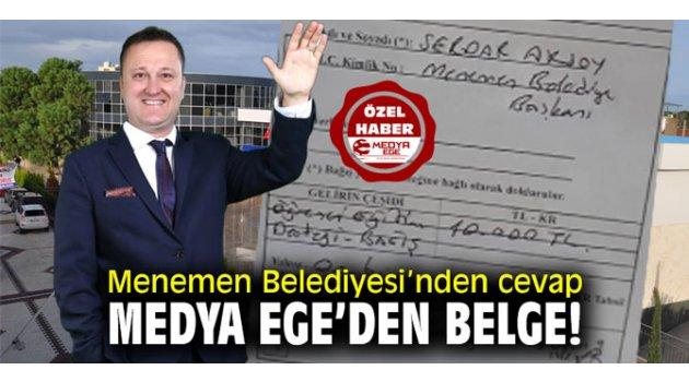 Menemen Belediyesi'nden cevap Medya Ege'den belge!