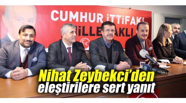 Nihat Zeybekci'den eleştirilere sert yanıt