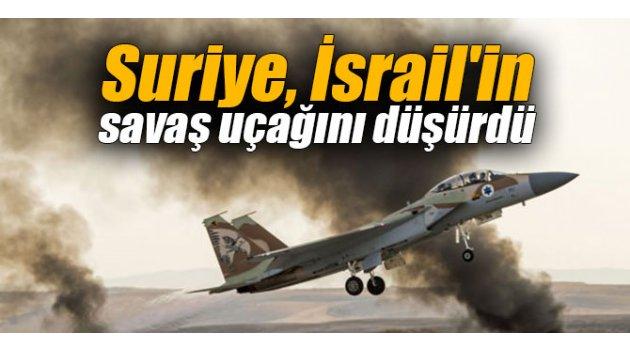 Suriye, İsrail'in savaş uçağını düşürdü
