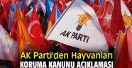 AK Parti'den Hayvanları Koruma Kanunu açıklaması