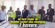 AK Parti Çeşme 'de belediye başkan aday adaylığına 7 başvuru