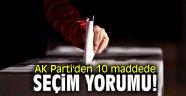AK Parti'den 10 maddede 23 Haziran yorumu!