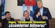 """AK Partili Doğan, """"Sorunlarının farkındayız, çözümlerini biliyoruz"""""""