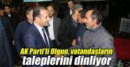 AK Parti'li Olgun, vatandaşların taleplerini dinliyor