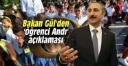 Bakan Gül'den 'Öğrenci Andı' açıklaması