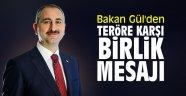 Bakan Gül'den teröre karşı birlik mesajı