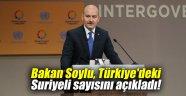 Bakan Soylu, Türkiye'deki Suriyeli sayısını açıkladı!