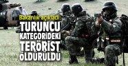 Bakanlık açıkladı: Turuncu kategoride yer alan terörist öldürüldü