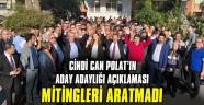 Cindi Can Polat'tan miting gibi adaylık açıklaması