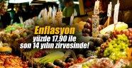 Enflasyon yüzde 17,90 ile son 14 yılın zirvesinde!
