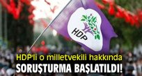 HDP'li o milletvekili hakkında soruşturma başlatıldı!