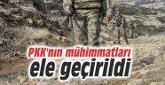 PKK'nın mühimmatları ele geçirildi