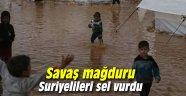 Savaş mağduru Suriyelileri sel vurdu