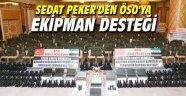Sedat Peker'den ÖSO'ya ekipman desteği