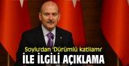 Süleyman Soylu'dan 'Dürümlü katliamı' ile ilgili açıklama